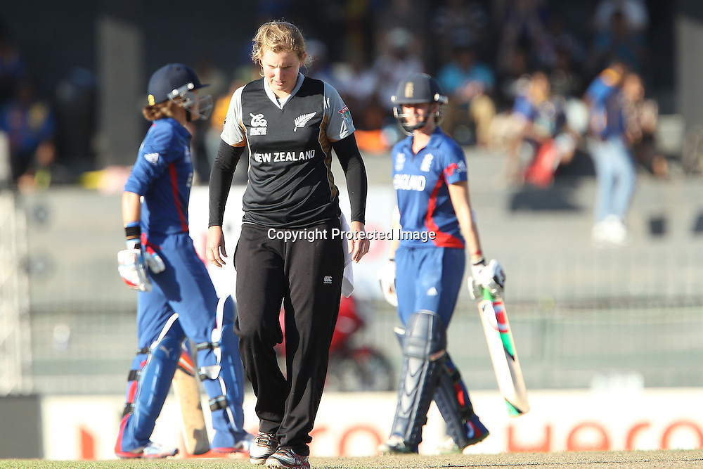 Morna Nielsen of New Zealand  during the ICC Women's World Twenty20 Semi final match between England and New Zealand held at the Premadasa Stadium in Colombo, Sri Lanka on the 4th October  2012<br /> <br /> Photo by Ron Gaunt/SPORTZPICS/PHOTOSPORT