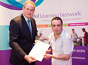 Sean Kyne TD Minister of State for Community Affairs, Natural Resources and Digital Development, presenting certificate to Mark Biggins with  QQI level2 in Horticulture  Photo:Andrew Downes, xposure .