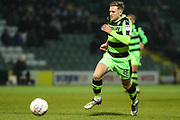 Forest Green Rovers Dayle Grubb(8) runs forward during the EFL Trophy 3rd round match between Yeovil Town and Forest Green Rovers at Huish Park, Yeovil, England on 9 January 2018. Photo by Shane Healey.