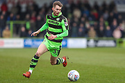 Forest Green Rovers Alex Bray(31) on the ball during the EFL Sky Bet League 2 match between Forest Green Rovers and Mansfield Town at the New Lawn, Forest Green, United Kingdom on 24 March 2018. Picture by Shane Healey.