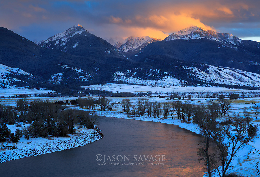 Yellowstone River in Montana's Paradise Valley.