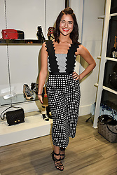 Lara Fraser  at a party to launch Ashley Robert's new footwear range Allyn held ay Larizia, 74 St.John's Wood High Street, London England. 8 February 2017.