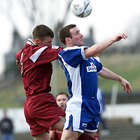 Arbroath v Stranraer    10.03.01<br />Arbroath's Paul Brownlie and Fraser Wright<br /><br />Pic by Graeme Hart<br />Copyright Perthshire Picture Agency<br />Tel: 01738 623350 / 07990 594431