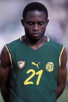 Fotball<br /> Foto: Dppi/Digitalsport<br /> NORWAY ONLY<br /> <br /> FOOTBALL - AFRICAN NATIONS CUP 2002 - CAMEROON / TOGO - 020129 - DANIEL NGOM KONE (CAM)