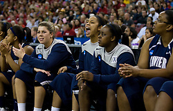 March 29, 2010; Sacramento, CA, USA; The Xavier Musketeers on the bench during the second half against the Stanford Cardinal in the finals of the Sacramental regional in the 2010 NCAA womens basketball tournament at ARCO Arena. Stanford defeated Xavier 55-53.