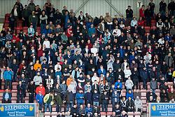 Falkirk fans. Dunfermline 1 v 2 Falkirk, Scottish Championship game played 22/4/2017 at Dunfermline's home ground, East End Park.