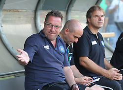 08.08.2015, Stadion an der Kreuzeiche, Reutlingen, GER, DFB Pokal, SSV Reutlingen 05 vs Karlsruher SC, im Bild Trainer Markus Kauczinski ( Karlsruher SC ) // during German DFB Pokal first round match between SSV Reutlingen 05 and Karlsruher SC at the Stadion an der Kreuzeiche in Reutlingen, Germany on 2015/08/08. EXPA Pictures © 2015, PhotoCredit: EXPA/ Eibner-Pressefoto/ Langer<br /> <br /> *****ATTENTION - OUT of GER*****