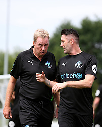 Harry Redknapp and Robbie Keane during training session during the Soccer Aid for UNICEF training session at Motspur Park, London. PRESS ASSOCIATION Photo. Picture date: Friday June 8, 2018. See PA story SOCCER Aid. Photo credit should read: Steven Paston/PA Wire