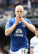 Steven Naismith of Everton celebrates scoring the first goal against Chelsea during the Barclays Premier League match at Goodison Park, Liverpool.<br /> Picture by Michael Sedgwick/Focus Images Ltd +44 7900 363072<br /> 12/09/2015