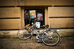 Push bikes left lying around the  Universities in Cambridge, United Kingdom. Sunday, 17th November 2013. Picture by Andrew Parsons / i-Images