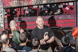 KMG Global Team Instructor and Expert Level 5, Tommy Blom takes charge of the IKMS 'In The Club' seminar, at the Buff Club in Glasgow's City Centre. Bringing Krav Maga training out with the confines of the gym into a real nightclub/bar.<br /> © Michael Schofield.
