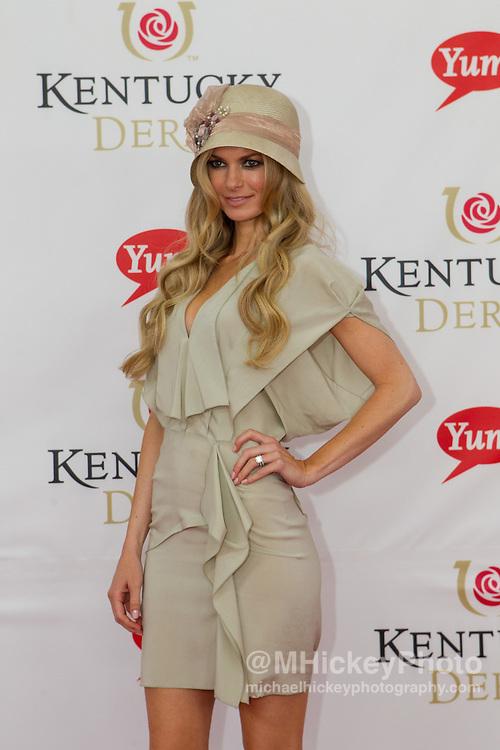 Marisa Miller attends the Kentucky Derby in Louisville, Kentucky on May 7, 2011.