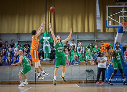 during the friendly match between KK Cedevita Olimpija Ljubljana and Ratiopharm Ulm on 11.9.2019 in Hala Tivoli, Ljubljana, Slovenia. Photo by Urban Meglič / Sportida