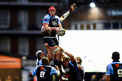 Seb Davies of Cardiff Blues wins the line out - Mandatory by-line: Ryan Hiscott/JMP - 05/10/2019 - RUGBY - Cardiff Arms Park - Cardiff, Wales - Cardiff Blues v Edinburgh Rugby - Guinness Pro 14