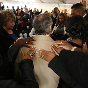Prayers are said for Mayor Richard M. Daley during groundbreaking for New Moms, Inc. facility in the Austin community Monday April 25, 2011.
