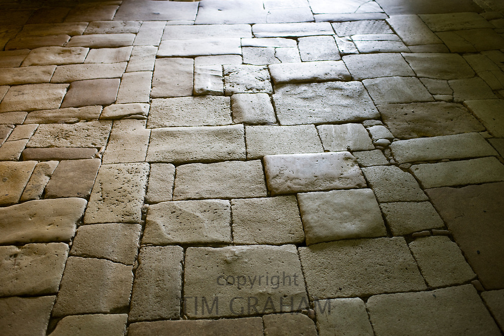 Flagstones of an old stone floor in France<br /> FINE ART PHOTOGRAPHY by Tim Graham