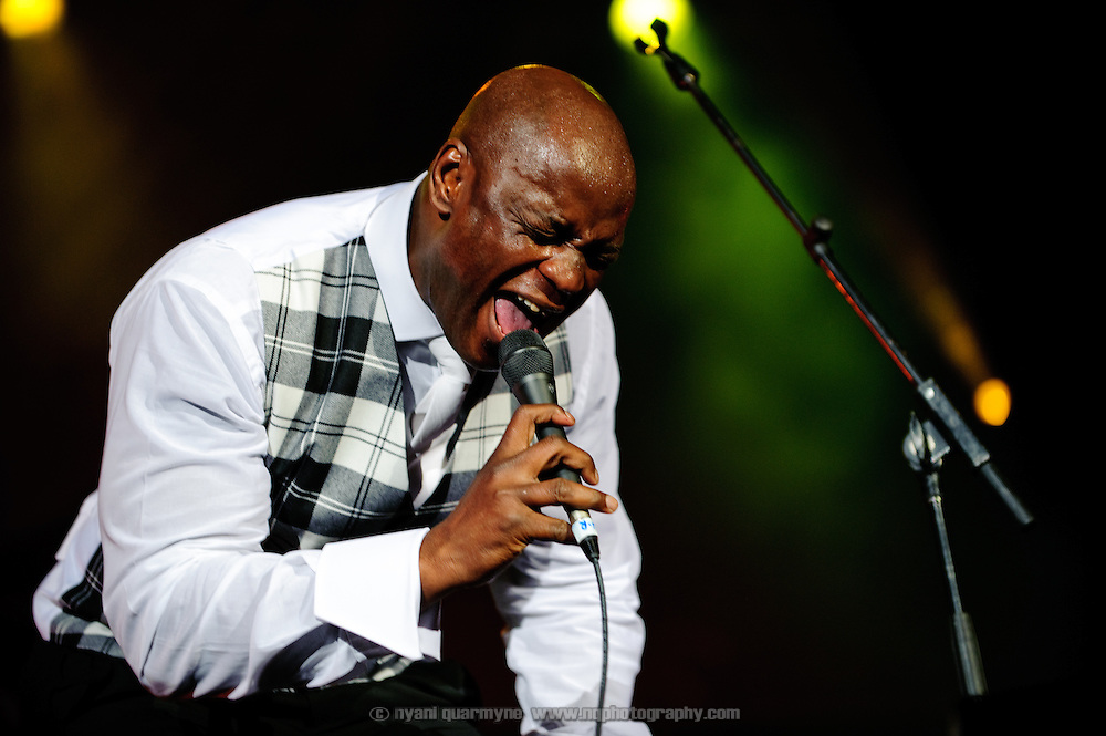 British Nigerian soul singer Ola Onabule at the Montreal Jazz Festival in Montreal, Canada on 6 July 2009.