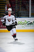 KELOWNA, CANADA - MARCH 15: Dominik Volek #10 of the Vancouver Giants skates during warm up against the Kelowna Rockets on March 15, 2014 at Prospera Place in Kelowna, British Columbia, Canada.   (Photo by Marissa Baecker/Getty Images)  *** Local Caption *** Dominik Volek;