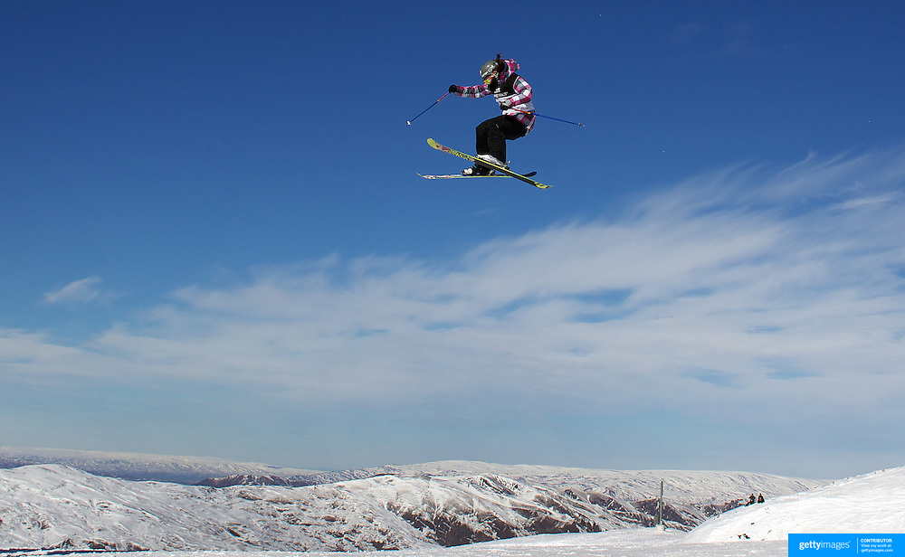 Rose Battersby, New Zealand, in action during the Women's Freeski Big Air competition at Cardrona, New Zealand during the Winter Games. Wanaka, New Zealand, 20th August 2011. Photo Tim Clayton