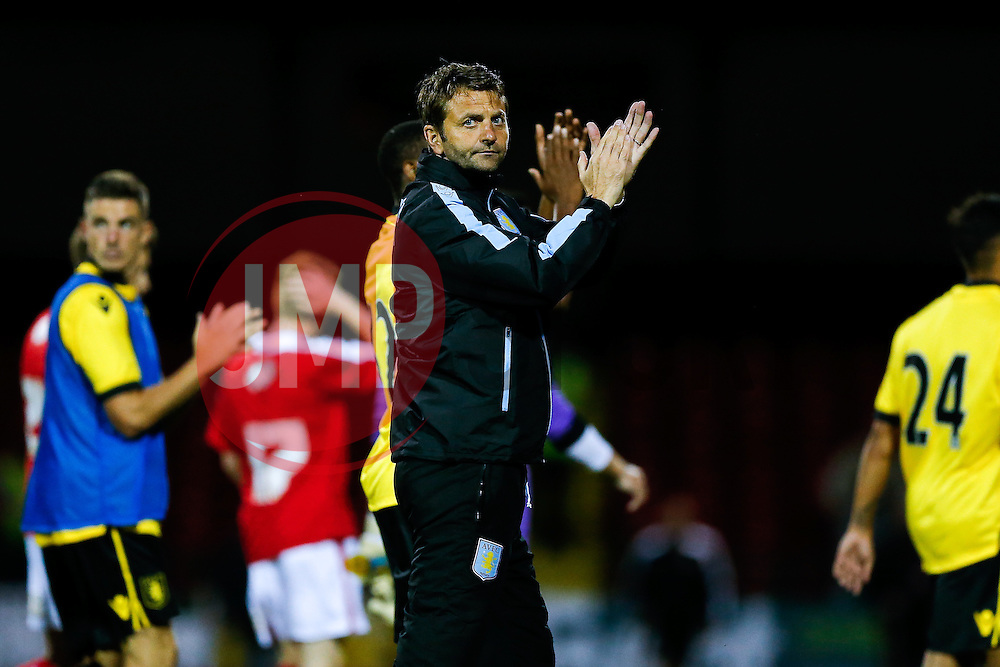 Aston Villa Manager Tim Sherwood applauds the supporters after a 0-2 win - Mandatory byline: Rogan Thomson/JMP - 07966 386802 - 21/07/2015 - SPORT - Football - Swindon, England - The County Ground - Swindon Town v Aston Villa - 2015/16 Pre Season Friendly.