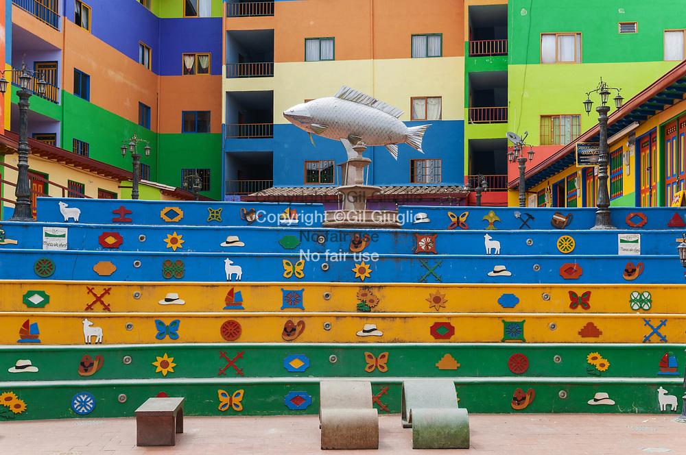 Colombie, Antioquia, Guatape, centre ville classé au Patrimoine Mondial de l'Unesco, quartier réhabilité // Colombia, Antioquia, Guatape, old city center at the World Heritage of Unesco, renovat neighborought