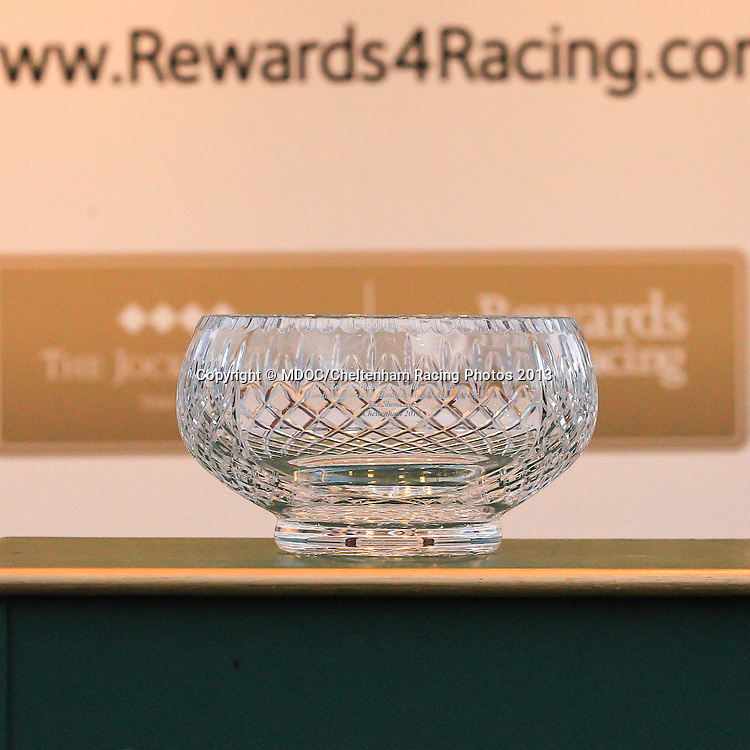 The Rewards4Racing Rewarding Your Passion Conditional Jockeys' Handicap Hurdle Race during Day One of the Showcase Meeting at Cheltenham Racecourse, their first meet of the 2013/14 jump season. Friday 18  October  2013.  Cheltenham, UK.<br /> <br /> Photo Credit: MDOC/Cheltenham Racing Photos<br /> <br /> &copy; MDOC/Cheltenham Racing Photos 2013. <br /> All rights reserved, see instructions.