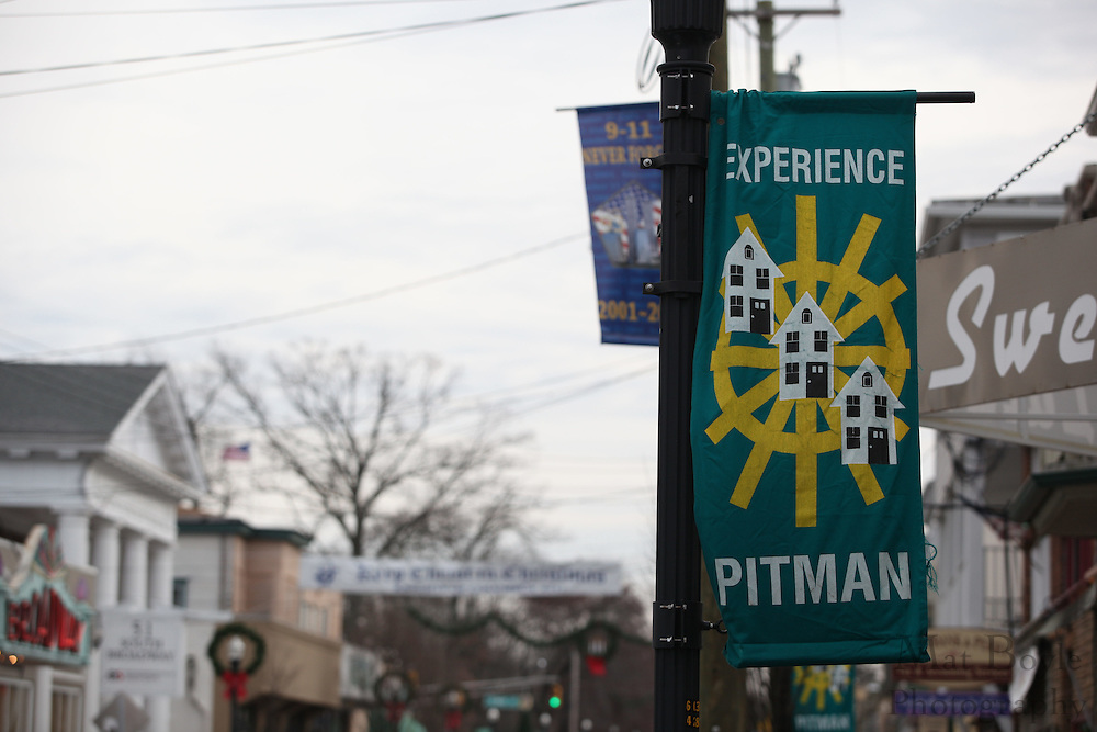 "The ""Keep Christ is Christmas Banner""  sponsored by Knights of Columbus 6247 hangs over Broadway in downtown Pitman, NJ on   Thursday December 15, 2011. (photo / Mat Boyle)"