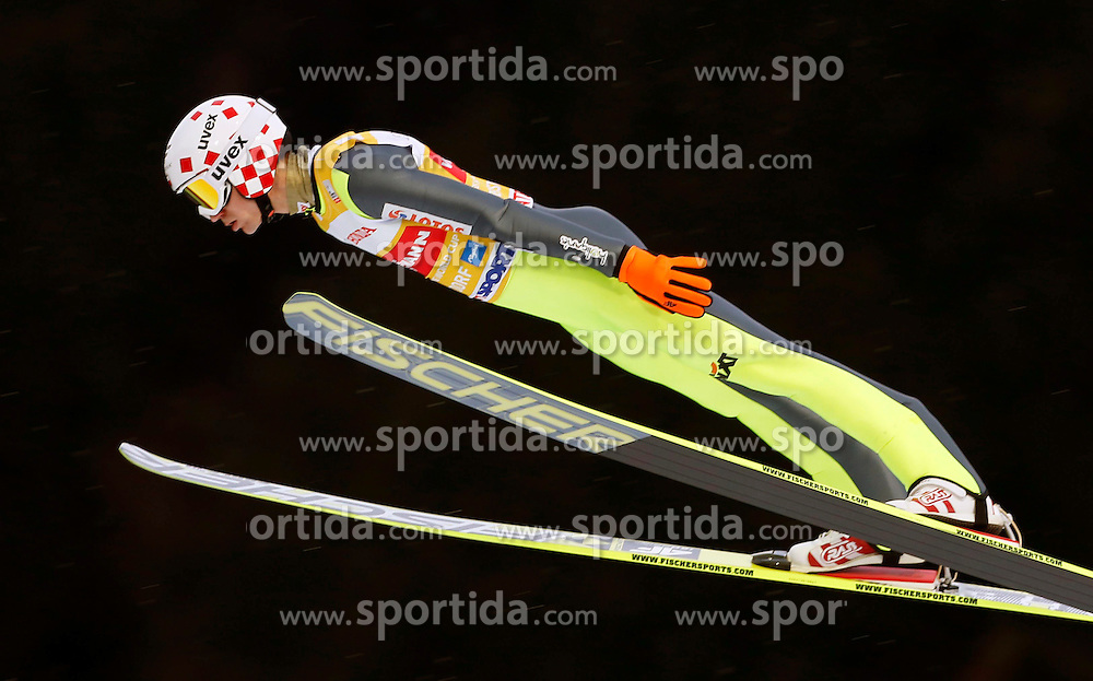 29.12.2013, Schattenbergschanze, Oberstdorf, GER, FIS Ski Sprung Weltcup, 62. Vierschanzentournee, Training, im Bild Kamil Stoch // Kamil Stoch during practice Jump of 62 th Four Hills Tournament of FIS Ski Jumping World Cup at the Schattenbergschanze in Oberstdorf, Germany on 2013/12/29. EXPA Pictures &copy; 2013, PhotoCredit: EXPA/ Newspix/ Dawid Markysz<br /> <br /> *****ATTENTION - for AUT, SLO, CRO, SRB, BIH, MAZ, TUR, SUI, SWE only*****