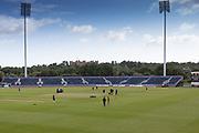 General view of the ground before the Specsavers County Champ Div 2 match between Durham County Cricket Club and Leicestershire County Cricket Club at the Emirates Durham ICG Ground, Chester-le-Street, United Kingdom on 18 August 2019.