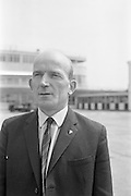 24/05/1964<br /> 05/24/1964<br /> 24 May 1964<br /> Irish delegates leave for International Seed Trade Conference in Venice. Mr Michael Wallis, President of the Irish Seed Trade Association and Director of Townsend-Flahavan Seeds Ltd., Kilmacthomas, Co. Waterford and Mr Denis Coakley, Vice President of the Irish Seed Trade Association and Managing Director of Denis Coakley and Co. Ltd., Seed Merchants, Lower Kevin Street, Dublin, left Dublin for Venice to attend the International Seed Trade Convention that was to be attended by 1,200 delegates including 11 Irish. Picture shows Mr Wallis the plane at Dublin Airport.