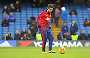 Ander Herrera of Manchester United in the warm up during the Barclays Premier League match between Chelsea and Manchester United at Stamford Bridge, London, England on 7 February 2016. Photo by Phil Duncan.