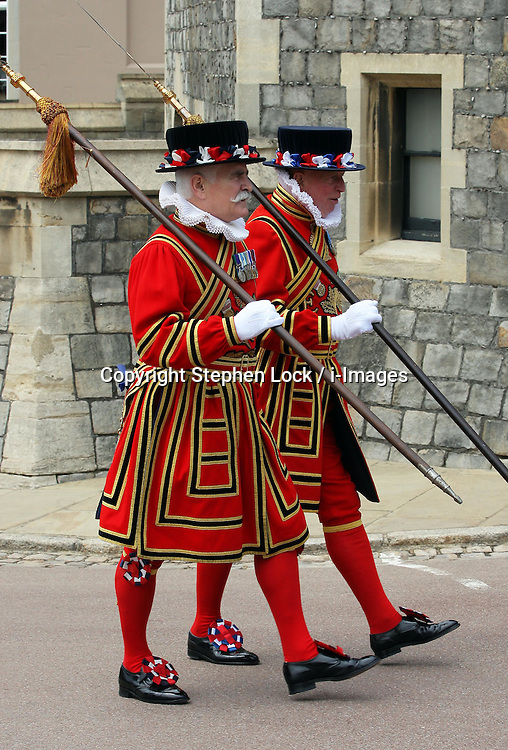 Yeomen of the Guard at the Order of the Garter service at Windsor Castle, Monday, 18th June 2012  Photo by: Stephen Lock / i-Images