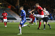 Coventry City midfielder John Fleck (7) with a shot on goal  during the Sky Bet League 1 match between Peterborough United and Coventry City at London Road, Peterborough, England on 25 March 2016. Photo by Simon Davies.