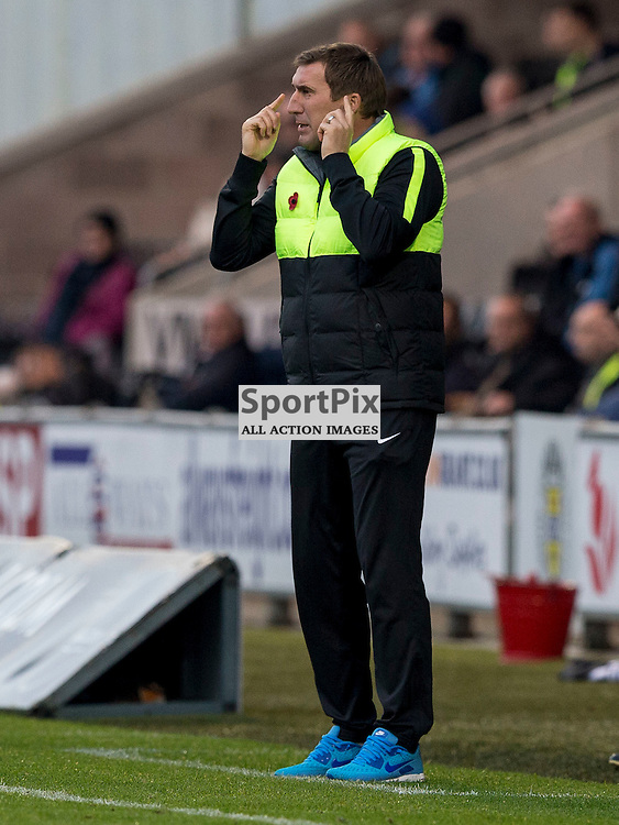 Alan Stubbs (Hibernian Manager) during the Ladbrokes Championship match between St Mirren v Hibernian at St Mirren Park on Saturday 7 November 2015<br /> <br /> Picture: Alan Rennie