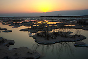 Israel, the shores of the Dead Sea at sunrise