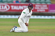 Marcus Trescothick of Somerset on as a substitute fielder in his last match during the Specsavers County Champ Div 1 match between Somerset County Cricket Club and Essex County Cricket Club at the Cooper Associates County Ground, Taunton, United Kingdom on 26 September 2019.
