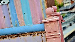 Colorful detail of the Allen Lane bridge.