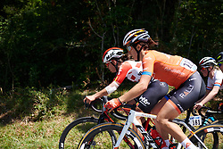 Sara Bergen (CAN) during La Course by Le Tour de France, a 121 km road race starting and finishing in Pau, France on July 19, 2019. Photo by Sean Robinson/velofocus.com