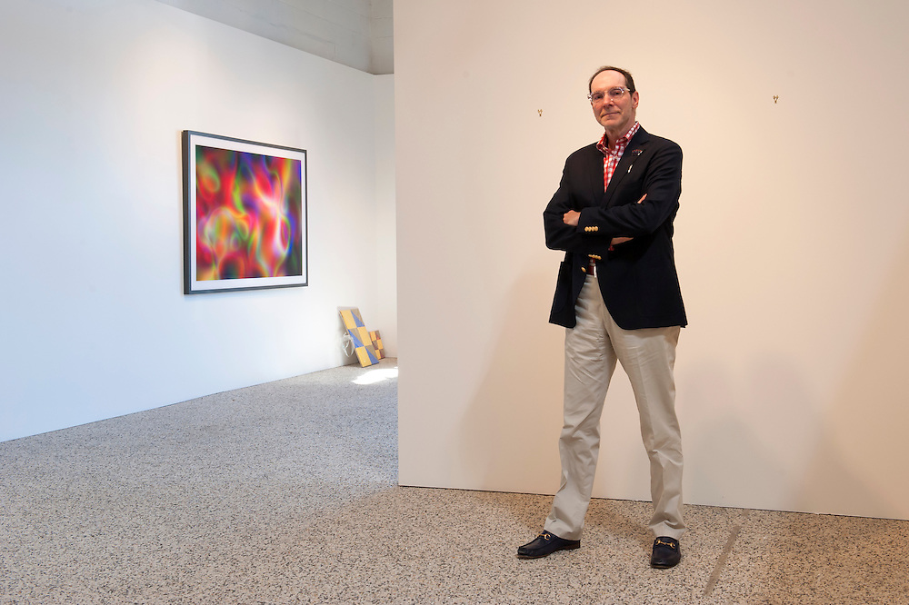 Der Industrielle und Kunstsammler und Gallerist Gary Wasserman in seiner Wasserman Projects Gallery in Detroit, Michigan, USA.<br /> <br /> Art in Detroit 2013<br /> &copy; Stefan Falke<br /> www.stefanfalke.com