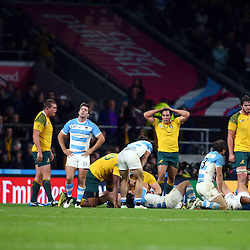 LONDON, ENGLAND - OCTOBER 25:  during the Rugby World Cup Semi Final 2 match between Argentina vs Australia at Twickenham Stadium on October 25, 2015 in London, England. (Photo by Steve Haag Emirates)