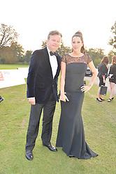 PRINCESS TAMARA CZARTORYSKI and ALAN O'SULLIVAN at the Chovgan Twilight Polo Gala in association with the PNN Group held at Ham Polo Club, Petersham Close, Richmond, Surrey on 10th September 2014.