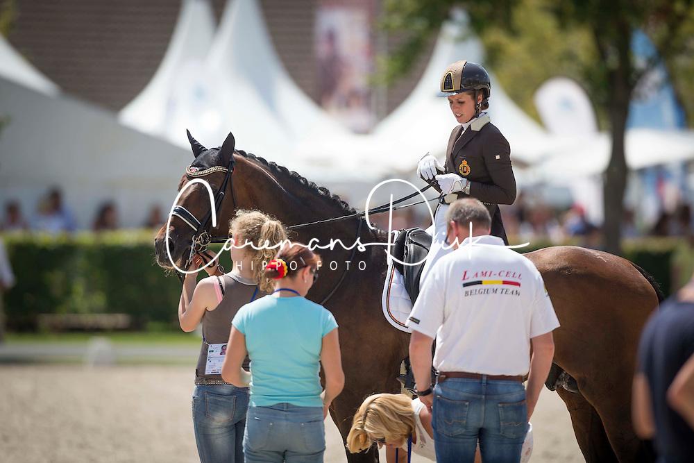 De Deken Julie (BEL) - Lucky Dance<br /> Preis der Familie Tesch <br /> Lambertz Nations Cup<br /> Weltfest des Pferdesports CHIO Aachen 2014<br /> &copy; Hippo Foto - Dirk Caremans
