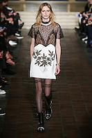 Julia Nobis walks the runway wearing Alexander Wang Fall 2016 during New York Fashion Week on February 13, 2016