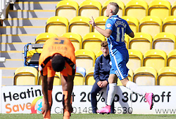 Marcus Maddison of Peterborough United celebrates scoring his first goal - Mandatory byline: Joe Dent/JMP - 07966386802 - 15/08/2015 - FOOTBALL - ABAX Stadium -Peterborough,England - Peterborough United v Colchester United - Sky Bet League One