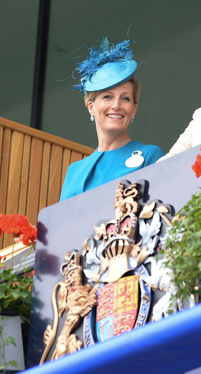 Left, The COUNTESS OF WESSEX at Day 1 of the 2013 Royal Ascot Racing Festival at Ascot Racecourse, Ascot, Berkshire on 18th June 2013.