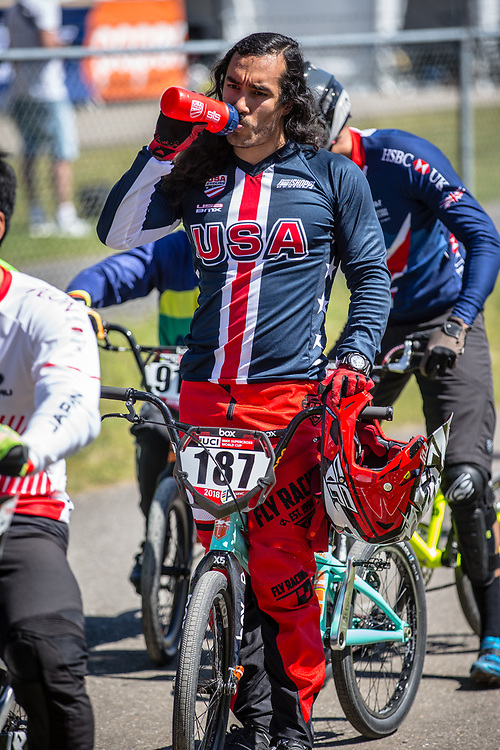 #187 (GARCIA Jared) USA at Round 4 of the 2018 UCI BMX Superscross World Cup in Papendal, The Netherlands