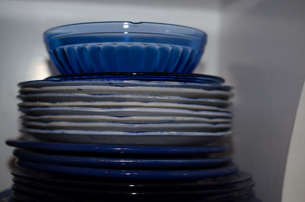 Stack of Plates, Nana's House, Castine, Maine, US