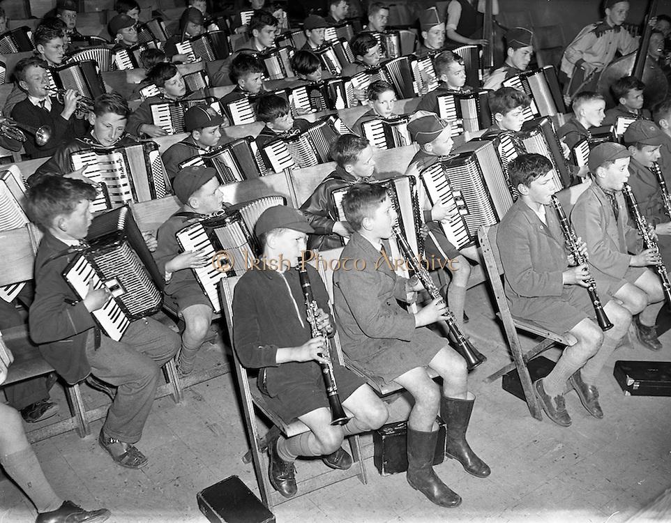 24/04/1958<br /> 04/24/1958<br /> 24 April 1958<br /> De La Salle school band, Ballyfermot, Dublin