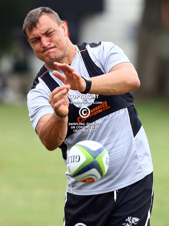 DURBAN, SOUTH AFRICA - JANUARY 13: Coenie Oosthuizen during the Cell C Sharks training session at Growthpoint Kings Park on January 13, 2017 in Durban, South Africa. (Photo by Steve Haag/Gallo Images)