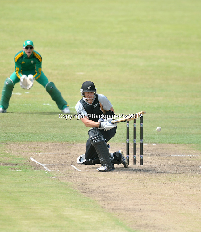 Nathan McCullum , New Zealand during the 2012 New Zealand Tour South Africa cricket International T20 match between South Africa A v New Zealand at the The Oval  in Pietermaritzburg , December 18 , 2012<br />   <br /> <br /> &copy; Sabelo Mngoma/BackpagePix